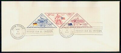 Mayfairstamps Dominican republic 1957 Olympics Perforated Souvenir Sheet First D