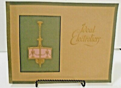 Rare! Great reference / 1922 Ideal Electrolier lighting fixture catalog