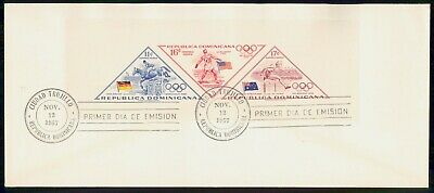 Mayfairstamps Dominican republic 1957 Olympics Imperforate Souvenir Sheet First