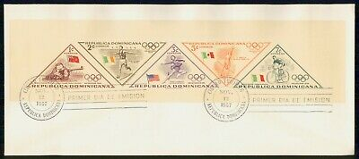 Mayfairstamps Dominican republic 1957 Perforated Olympics souvenir Sheet First D