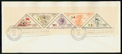 Mayfairstamps Dominican republic 1957 Imperforate Olympics Souvenir Sheet First