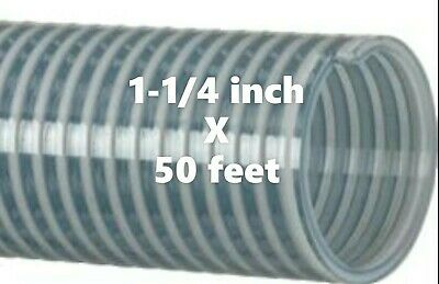50 ft. Roll of 1-1/4 inch Kanaflex 112 CL125 Water Suction Hose Clear PVC