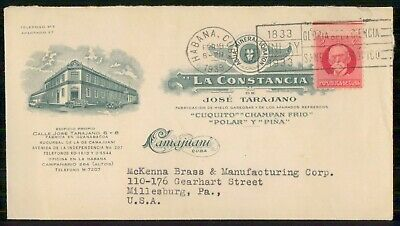 Mayfairstamps Habana 1939 La Constancia Advertising to US cover wwe93449
