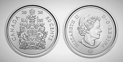 Canada 2020 Brilliant Uncirculated BU UNC MS Fifty Cent Piece!!