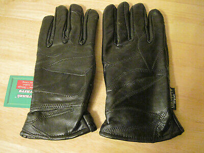 NWT mens Genuine Leather Dress Gloves Black Thinsulate Lining L Large $39.95