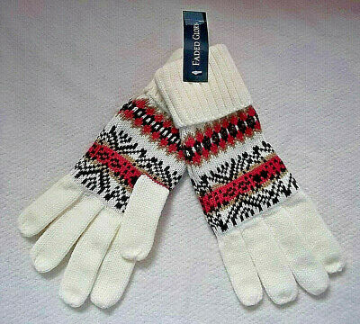 Fair Isle Knit Gloves No Combined Shipping Discounts One Size Sequin Highlights
