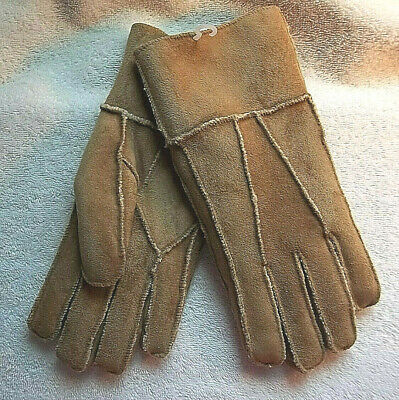 Beige Suede Gloves No Combined Shipping Discounts Women's Fits Most Acrylic New