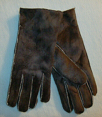Chocolate Suede Gloves No Combined Shipping Discounts Fits Most Acrylic Womens