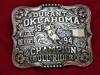 1994 Vintage Rodeo Trophy Buckle~Durant Oklahoma  Bull Riding Champion #352