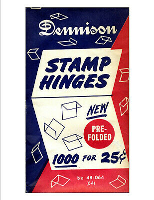 Dennison hinges unopened package of 1,000 for 25 cents.