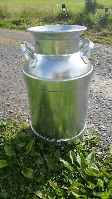 Vintage Metal Milk Can Sheffield dairy NY