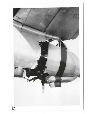 WWII Orig Photo USAAF 344th BG B-26 with Damaged Tail/Tail Gunner Position
