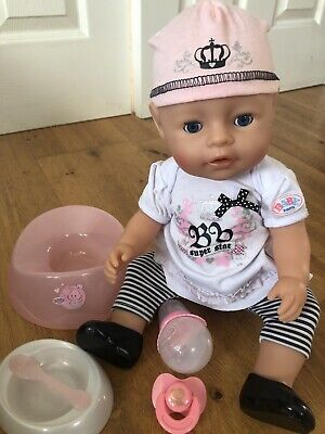 """Baby Born Interactive 16"""" Doll Zapf Creation Rock Super Star Outfit"""