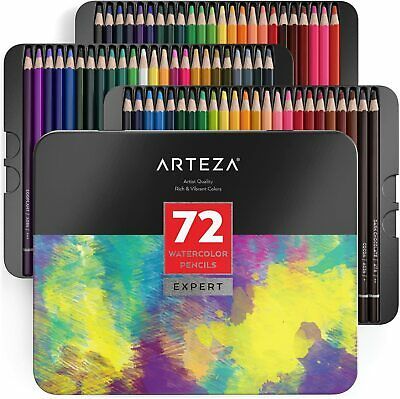 ARTEZA Professional Watercolour Pencils - Set of 72|New|Sealed|QikShp|UK|SALE||