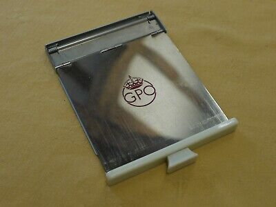 GPO Telephone pull out tray with GPO chrome crest and ivory coloured front