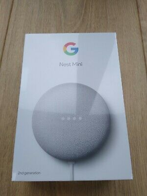 Google Nest / Home Mini (2nd Generation) Smart Speaker - Chalk- New and Sealed