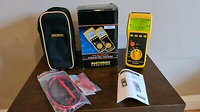 Martindale IN2101 500V Backlit LCD Insulation Continuity Tester w/ Leads & Case