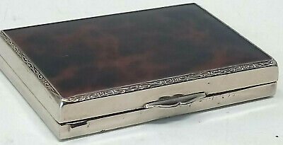 Antique Silver Plate and Tortoiseshell Lacquer Calling Card Case