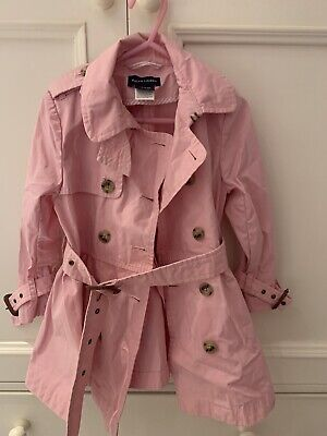 Ralph Lauren Girls Pink Trench Coat Age 3T Age 3