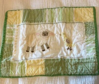 2 Pottery Barn Cottontail Friends Lamb Chick Quilted Small Pillow Shams. New.