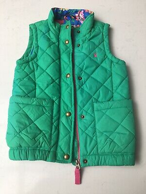 Girls Green Joules Age 6 Summer Quilted Gilet