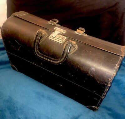 Antique Medical Doctor Bag Carrying Case ~ Some Supplies Inside