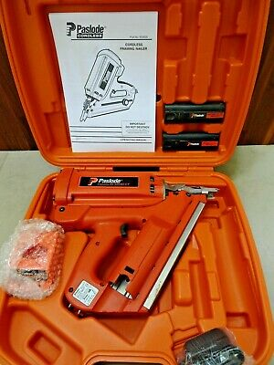 Paslode im350 gas nailgun serviced cordless 1stfix  2 batteries New charger/case