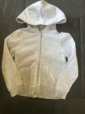 Girls Grey Hoodie From H&M. Age 5-6 Years