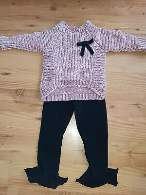 Baby Girls 2 Piece Outfit Set From River Island Age 2-3 Years Jumper Top And...