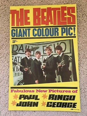 The Beatles 1964 Giant Fold Out Poster Pyx London 1964 New Old Stock Original