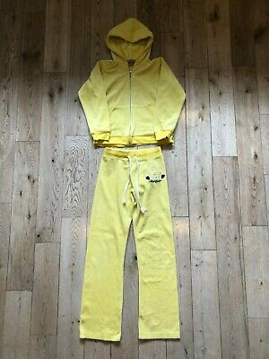 Juicy Couture Girls Yellow Tracksuit Age 12