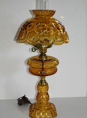"""Le Smith Amber Moon & Stars 22"""" Electric Table Lamp"""