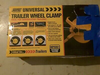 trailer wheel clamp MP9061Maypole 8-10 inchwheels 140mm width