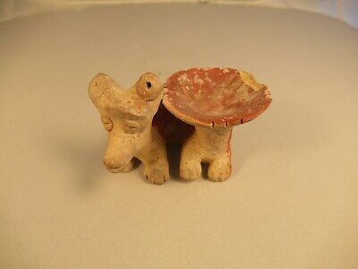 Pre-Columbian Colima/Jalisco dog & bowl pottery
