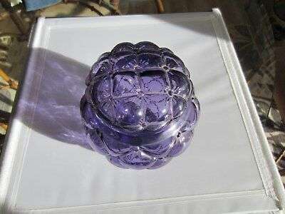 Deep purple Glass jar with cover