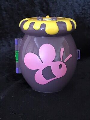 🦉Polly Pocket Disney Winnie the Pooh Honey pot NO FIGURES  VINTAGE 1998 🌈