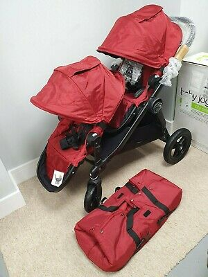 Baby Jogger City Select Double - Red/Black Pram Pushchair Stroller BRAND NEW