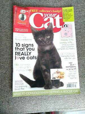 your Cat February 2020 with Collector's Badge
