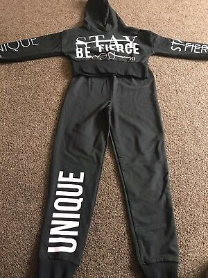 River Island Active Girls Age 9/10 Jogger In Black. Excellent Condition