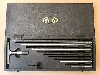 "Moore & Wright 0-12"" Depth Micrometer Set Boxed"