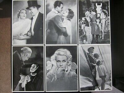 6 b/w stills from German films of the early 1930s, issued 1935