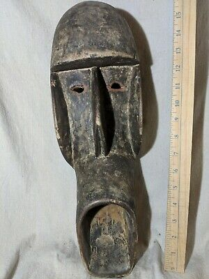 Mblo Portrait Mask from the Ivory Coast — Authentic Carved African Wood Art