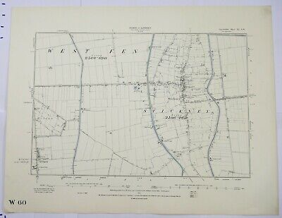 1891 OS 6 inches to a mile Map of Lincolnshire – Stickney XCSW