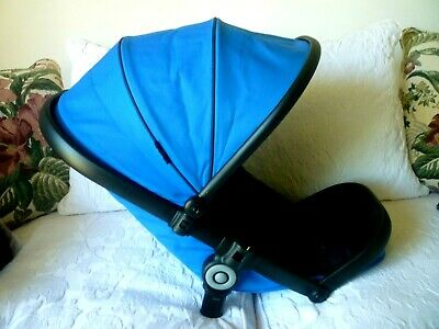 iCandy Peach 3 Cobalt Blue  Seat Unit & Hood-Excellent condition-Hardly used