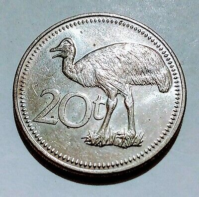 Scarce 1984 Papua New Guinea 20 Toea - Minted At The Royal Mint In Britain