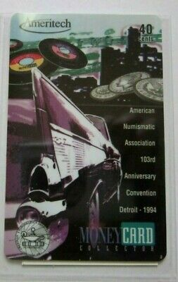 American Numismatic Association Detroit Show 1994 Phone Card, free shipping