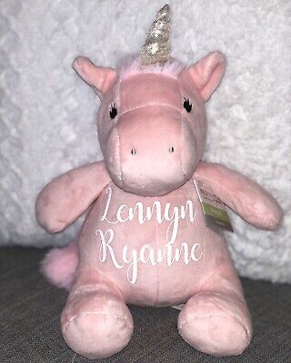 Baby Name Unicorn Plush 9 Inches Tall!