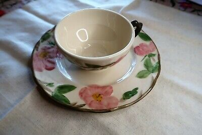 Vtg Franciscan Desert Rose Coffee Tea Cup and Saucer Made in USA