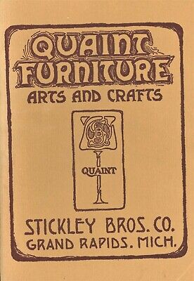 Arts & Crafts Quaint Stickley Brothers - Furniture Lamps Copper / Scarce Book