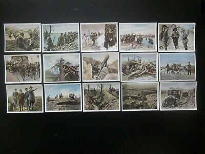 15 original German cigarette cards of World War 1, issued in 1937, 1/2